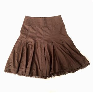 CAbi Brown #480 Masai Tulle Godet Skirt sz. 4